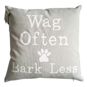 Vintage House Accents - 🆕Vintage House Wag Often Bark Less Throw Pillow